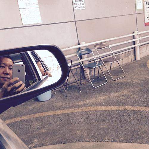 駐車場にてパシャリ